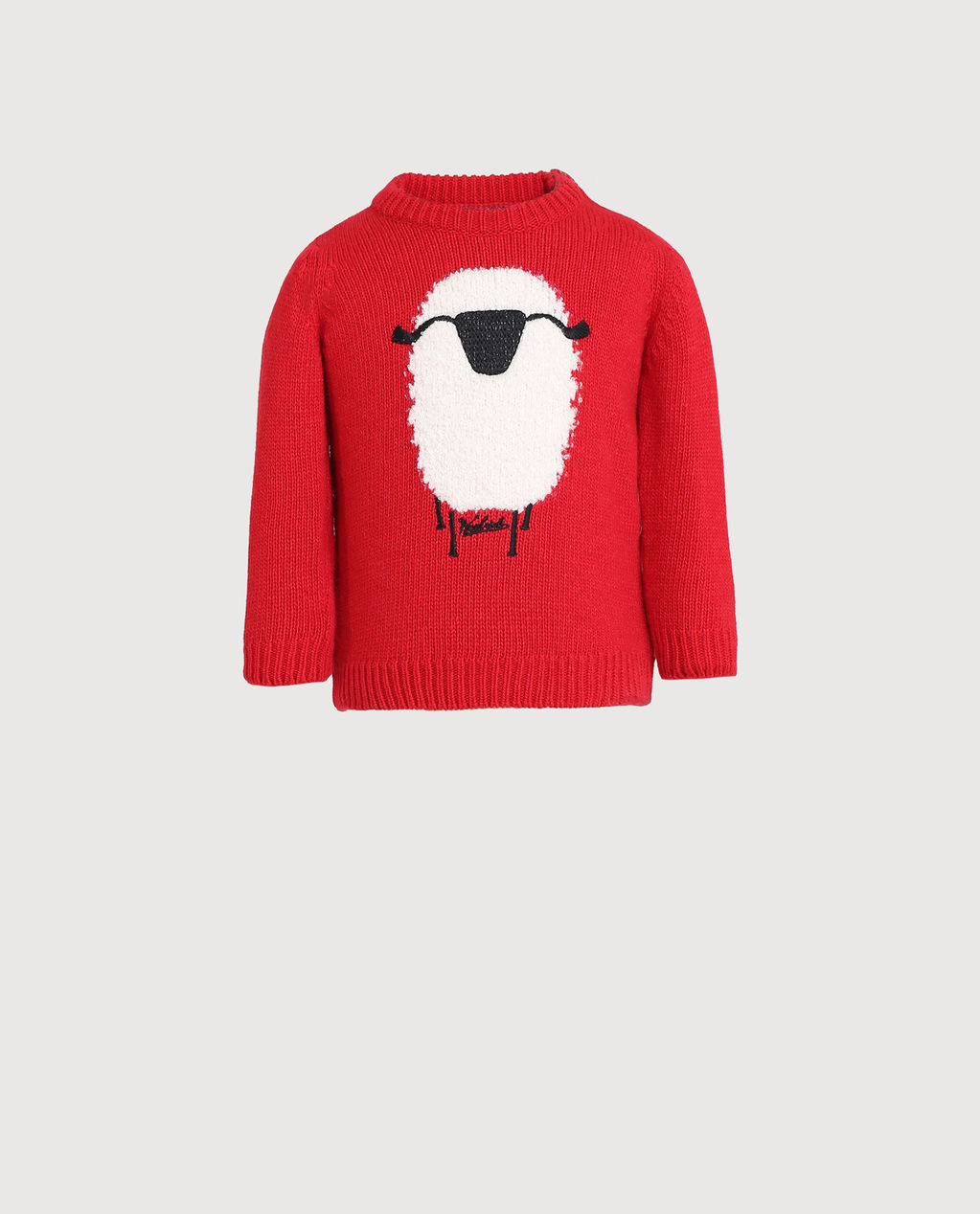 Baby Sheep Sweater Red