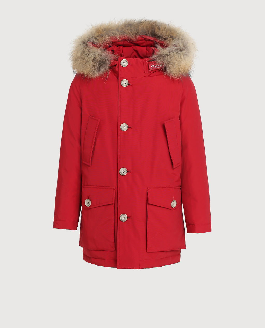 B'S Parka Detachable Fur Red