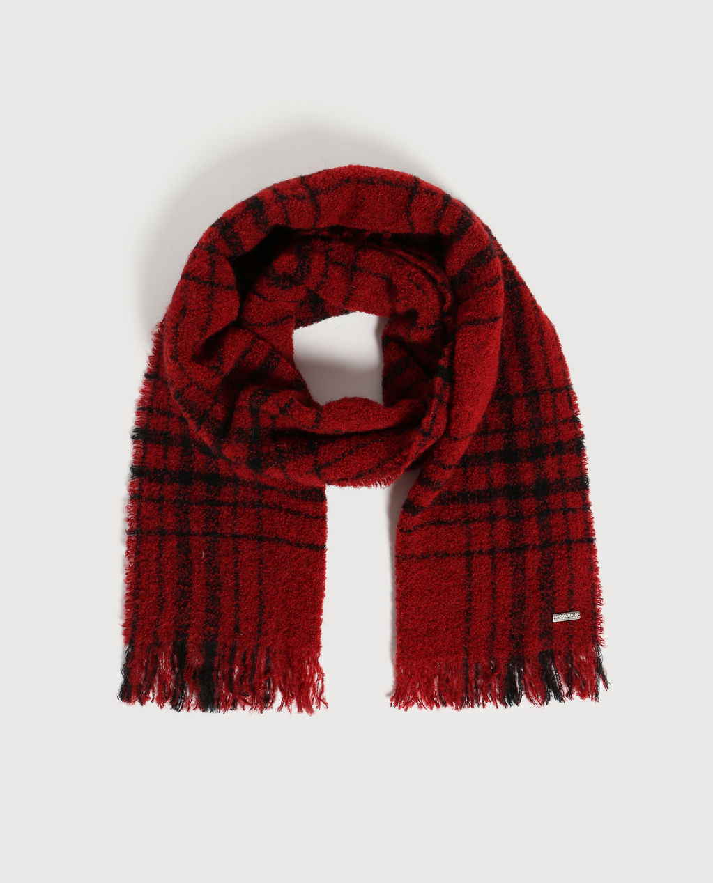 W'S Hunting Check Scarf RED SUPER HUNTI