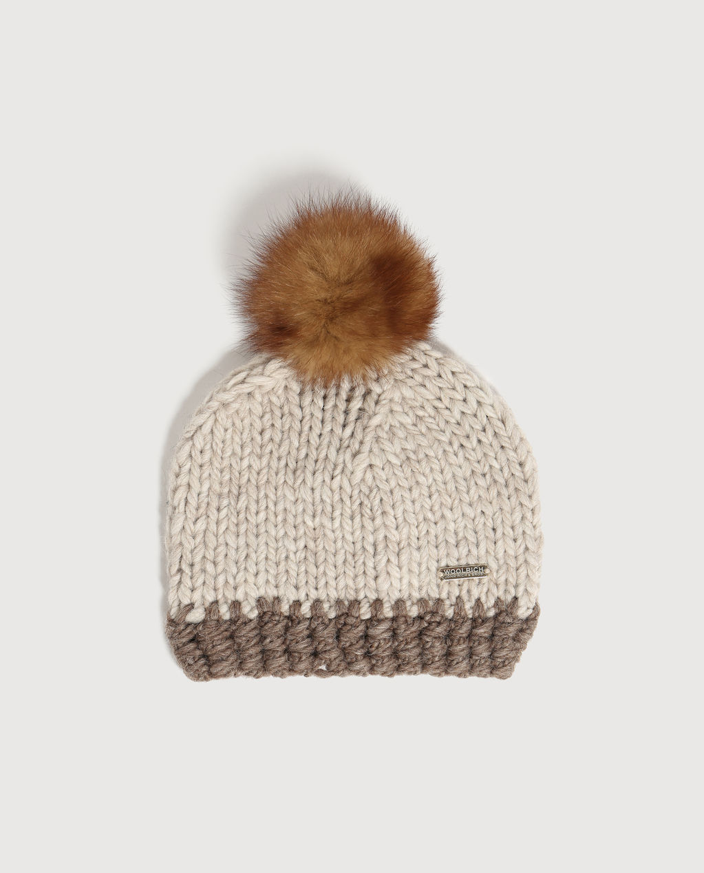 W'S Chunky Pon Pon Hat NATURAL BEIGE