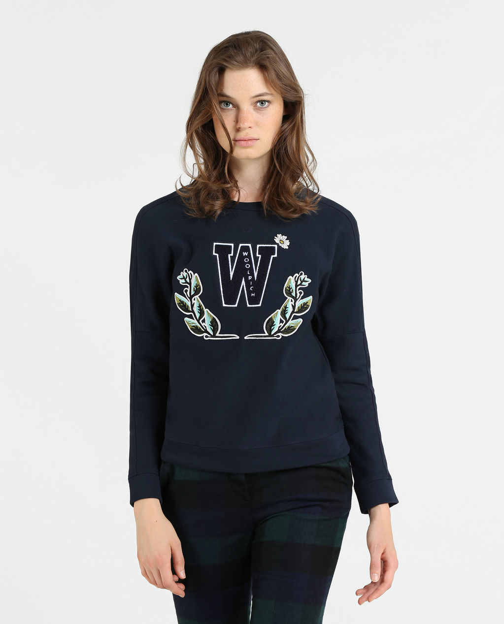 W'S New Fleece Crew Neck MELTON BLUE