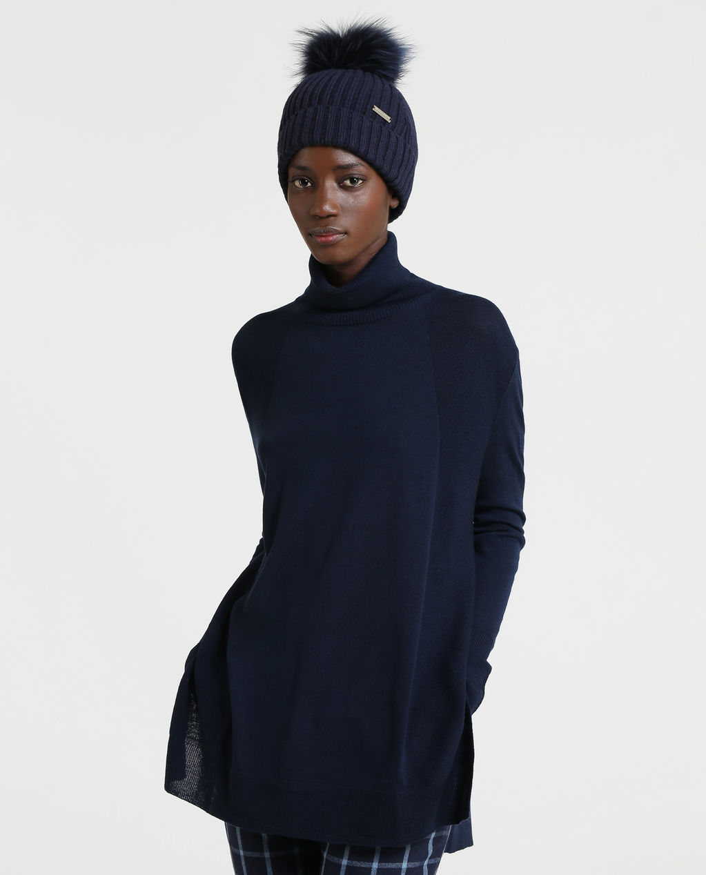 W'S Light Weight Turtle Neck MELTON BLUE