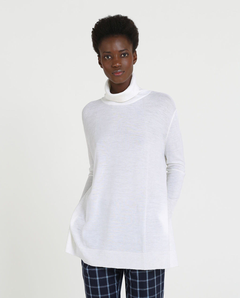 W'S Light Weight Turtle Neck ARCTIC WHITE