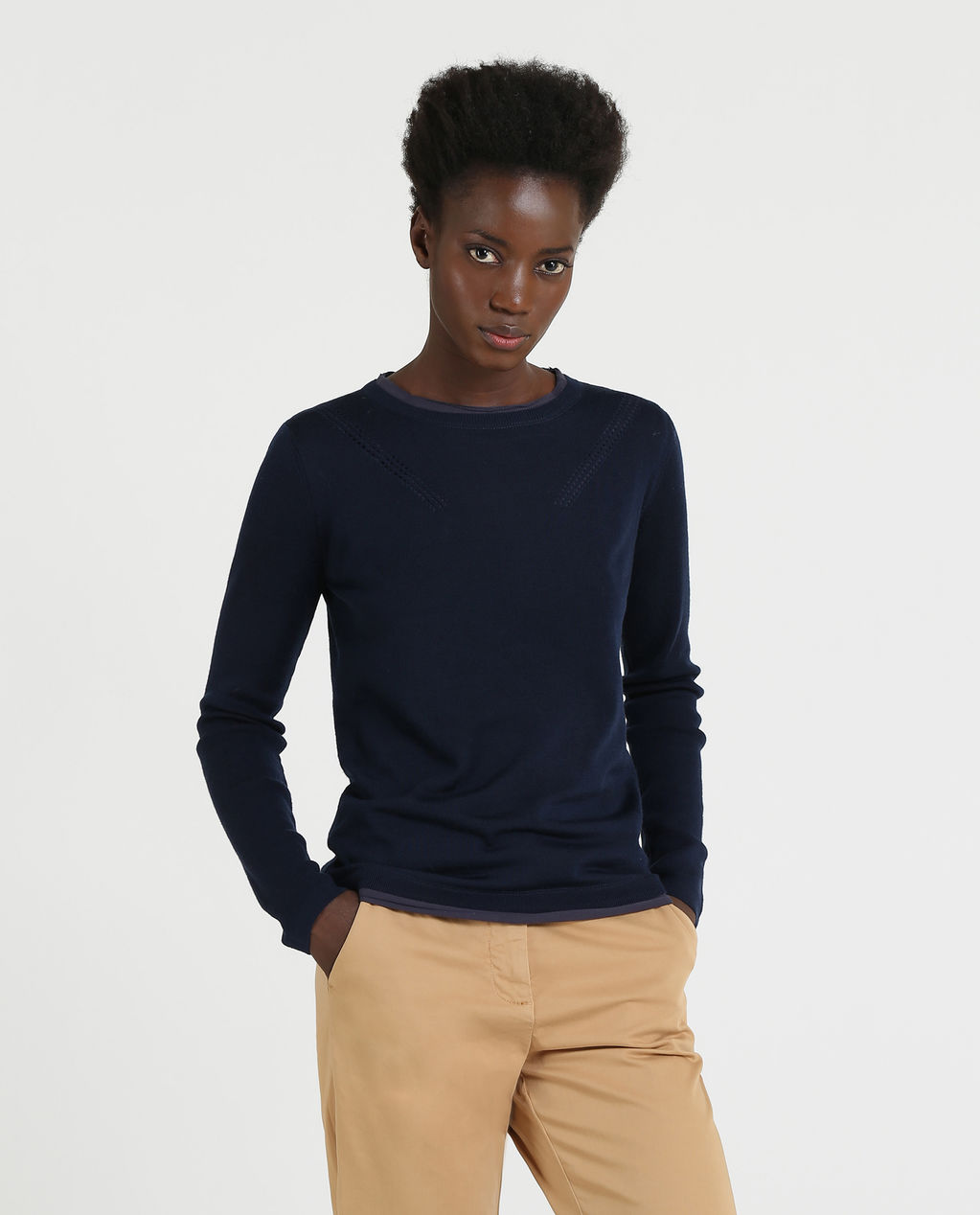 W'S Light Weight Crew Neck MELTON BLUE