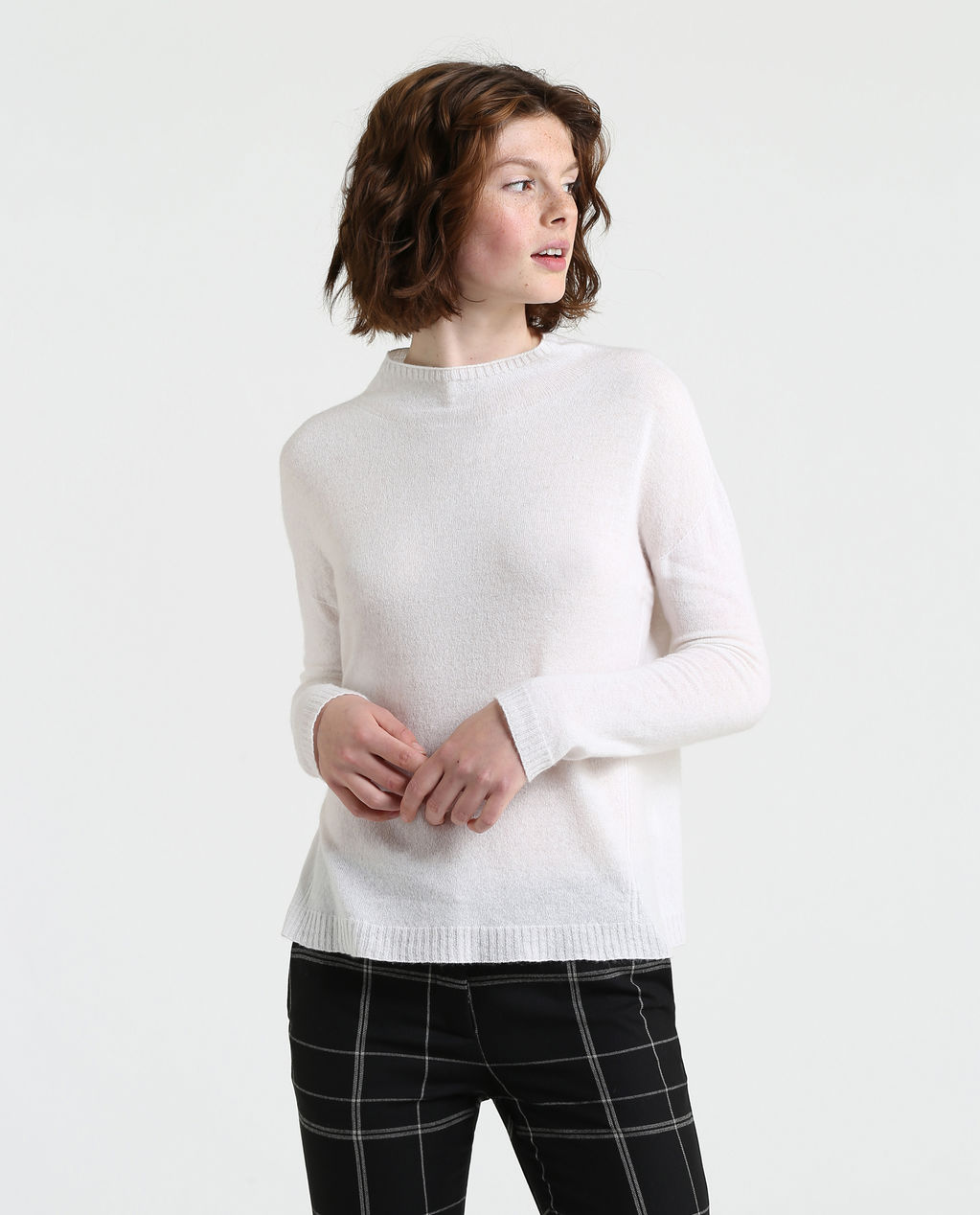 W' Super Fine Pocket Sweater ARCTIC WHITE