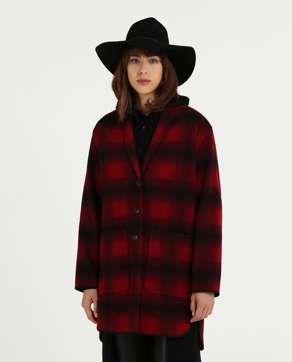 W'S Gentry Coat RED HUNTING CHE