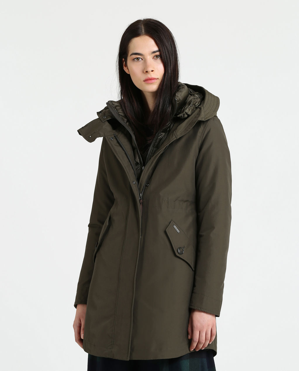 W'S Long Military Parka DARK GREEN