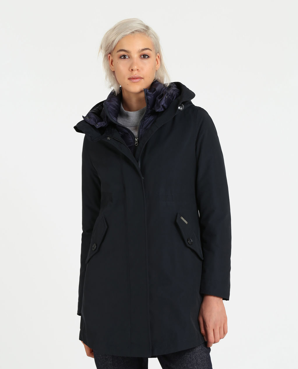 W'S Long Military Parka DARK NAVY
