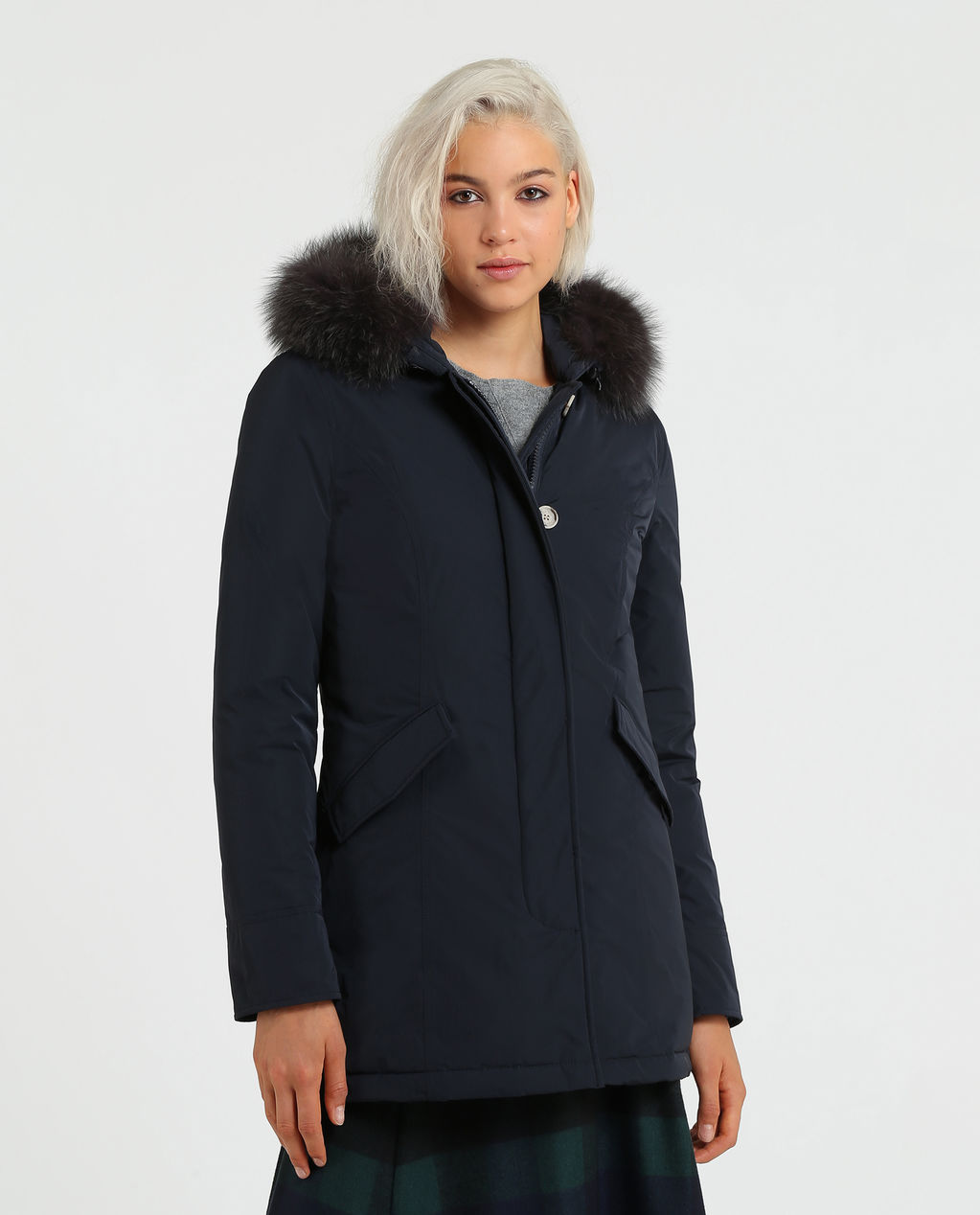 W'S Luxury Arctic Parka Fox MIDNIGHT BLUE