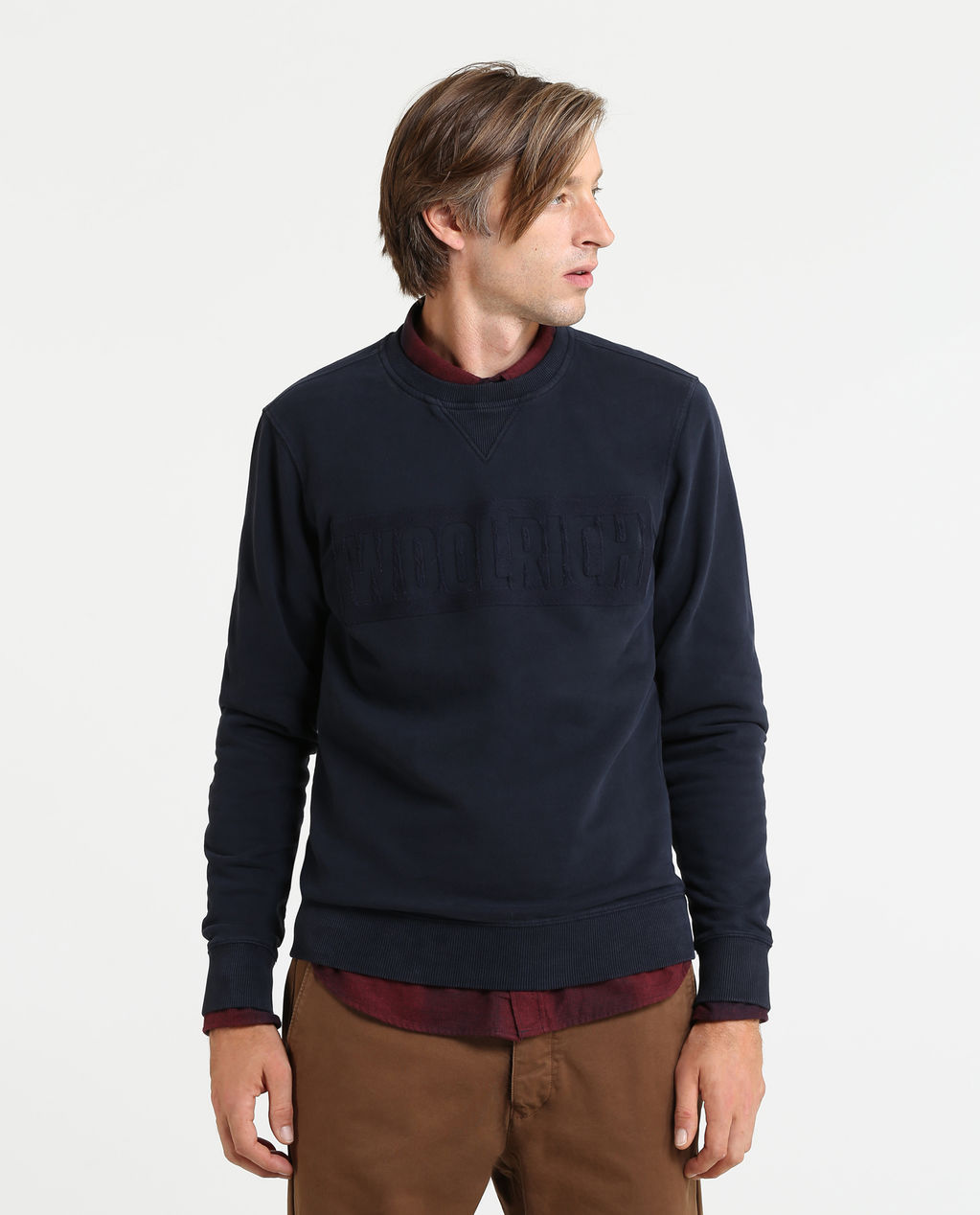Logo Crew Neck MELTON BLUE B