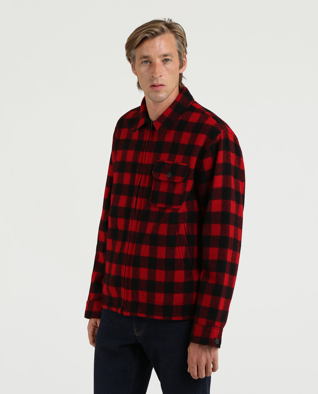 Timber Jacket RED BLACK BUFFA