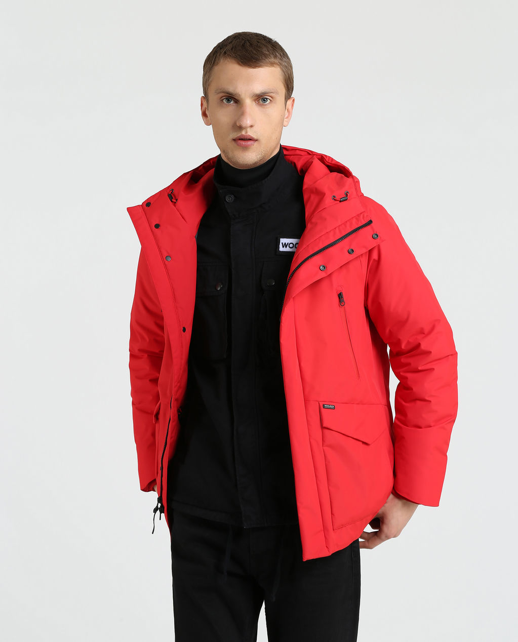 Comfort Hooded Jkt FLAME RED